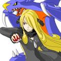 Cynthia and Garchomp - pokemon-champion-cynthia photo