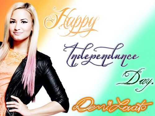 Demi Lovato Indain Independence giorno 2012 special Creation da DaVe!!!
