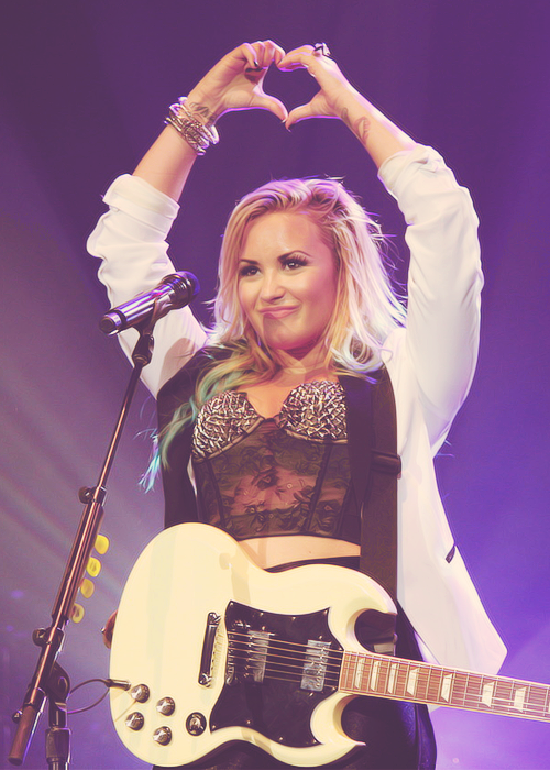 Demi performing in Camden, New Jersey