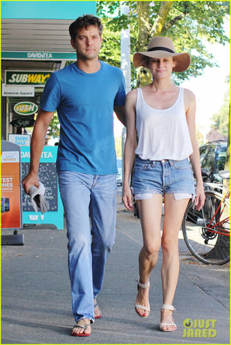Diane - and Joshua Jackson out and about in Canada - August 17, 2012