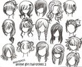 Different Animie hairs