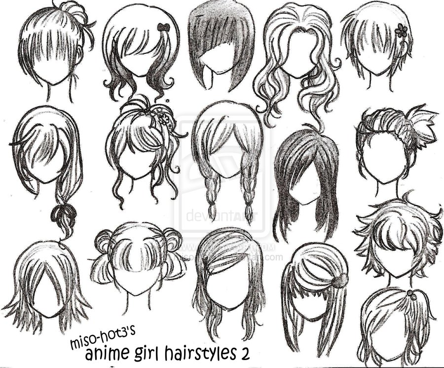 Different Animie hairs - Anime Photo (31838247) - Fanpop