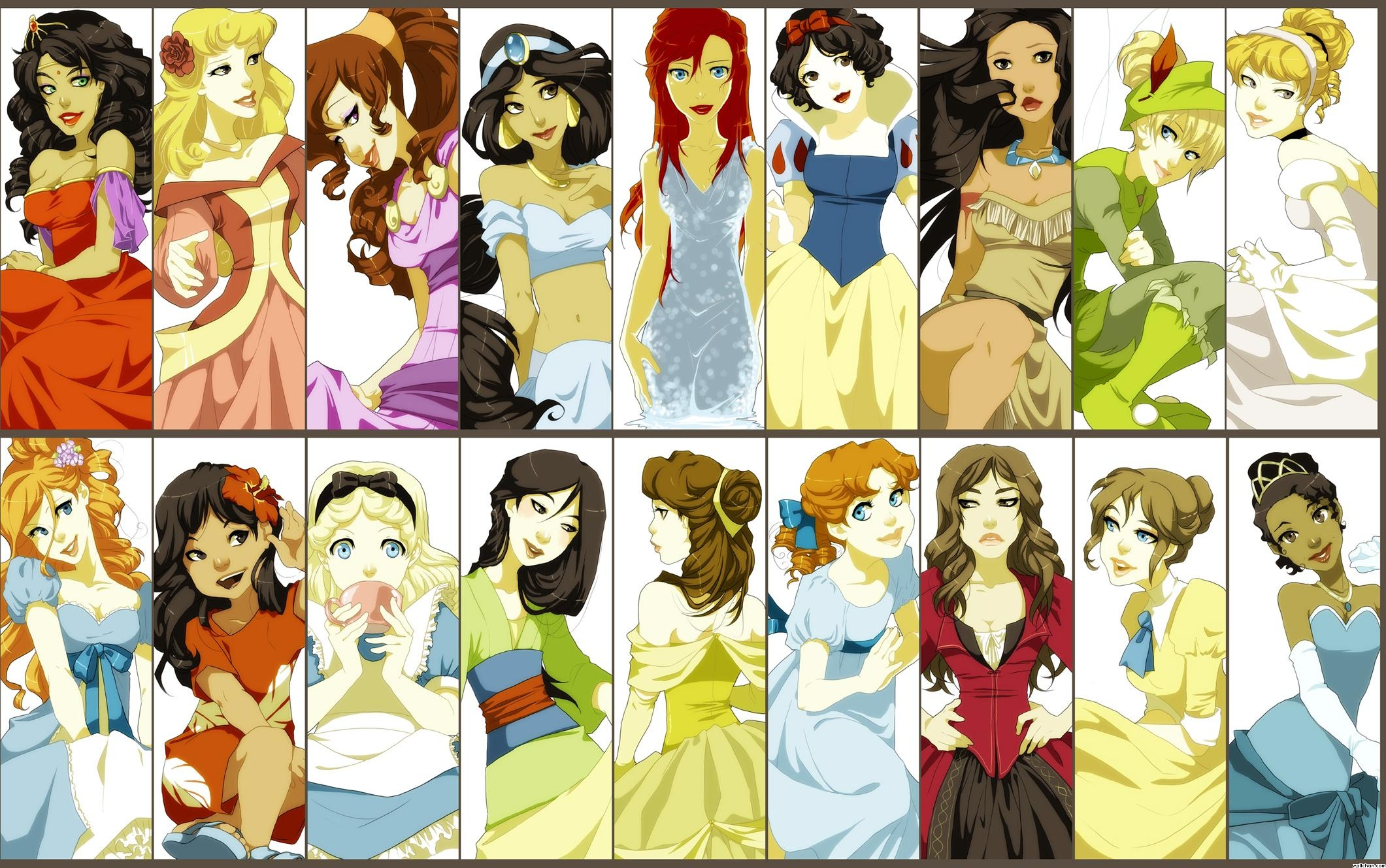 Disney princess disney characters