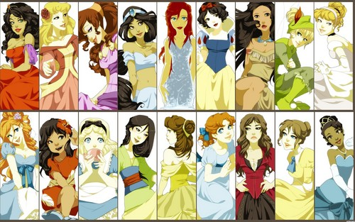 Disney Princess wallpaper with a stained glass window called Disney Characters