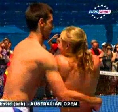 Djokovic hot dance.