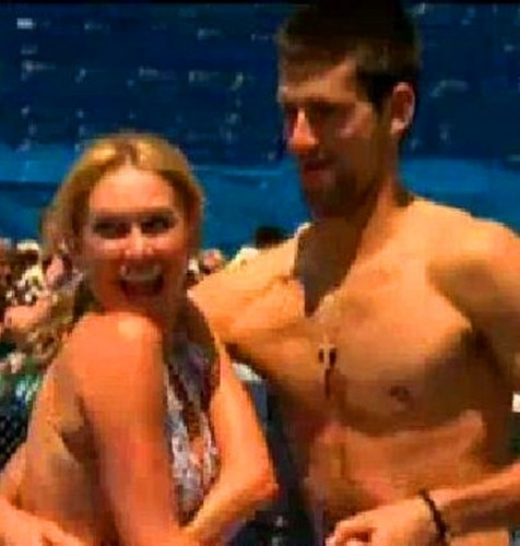 Novak Djokovic wallpaper probably with a hunk and skin entitled Djokovic hot dancing