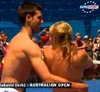 Novak Djokovic photo probably with a water titled Djokovic hot dancing