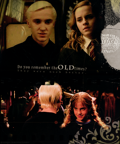 Dramione wallpaper possibly containing a concert and a portrait called Draco & Hermione