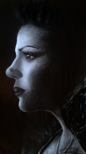Evil queen/Regina drawin'(Lana Parrilla) - once-upon-a-time Fan Art