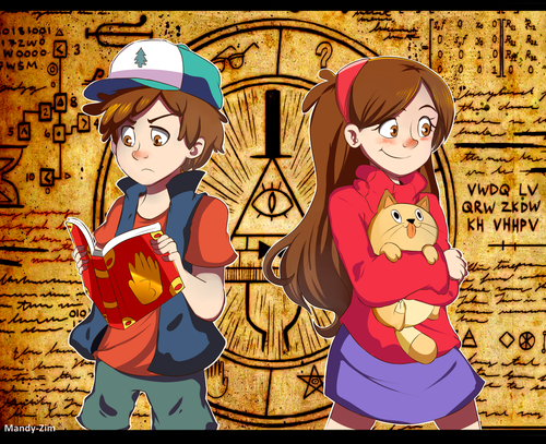 Gravity Falls achtergrond with anime called Fanart