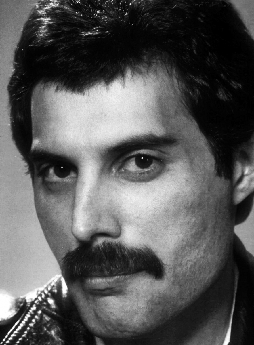 Photographic portrait of Freddie Mercury