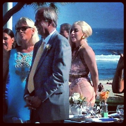 Gaga at Taylor's brother's wedding