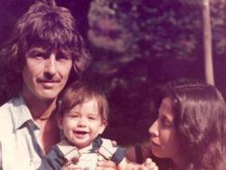 George, Dhani, and Olivia