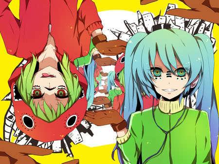 Gumi (Vocaloids) fondo de pantalla with anime entitled Gumi Miku