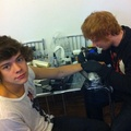 Harry's padlock tattoo done by Ed Sheeran