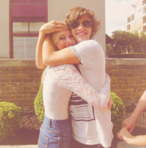 Harry with a fan (look how he is hugging her)