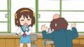 Haruhi punches Kyon