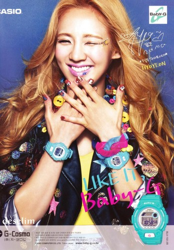 Hyoyeon - Casio Baby-G Ad @ CeCi Magazine September Issue