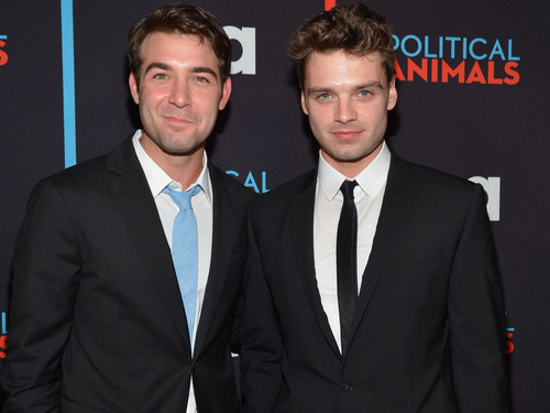 James Wolk and Sebastian Stan @ the Political Tiere Red Carpet Premiere