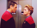 Janeway and Chakotay - star-trek-voyager photo