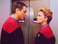 Janeway and Chakotay - star-trek-voyager photo