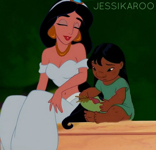 Jasmine Comforts Lilo