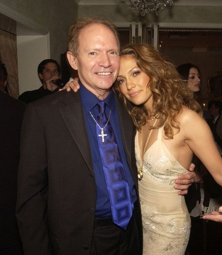 Jennifer Lopez with her father David Lopez