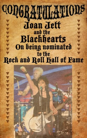 Joan Jett - Rock and Roll Hall of Fame nomination