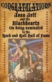 Joan Jett - Rock and Roll Hall of Fame nomination - female-rock-musicians photo
