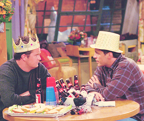 Joey & Chandler wallpaper containing a dinner entitled Joey and Chandler