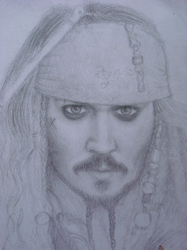 Johnny Depp sketch - johnny-depp Fan Art