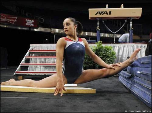 Jordyn Wieber Stretching