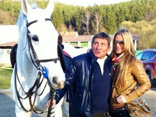Josef Vana with a beautiful girl