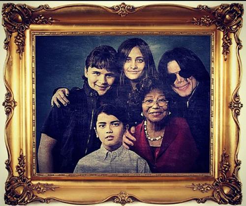 Katherine, Michael, Prince, Paris, Blanket