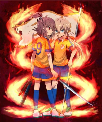 Kirino and Shindo (burning spirit)