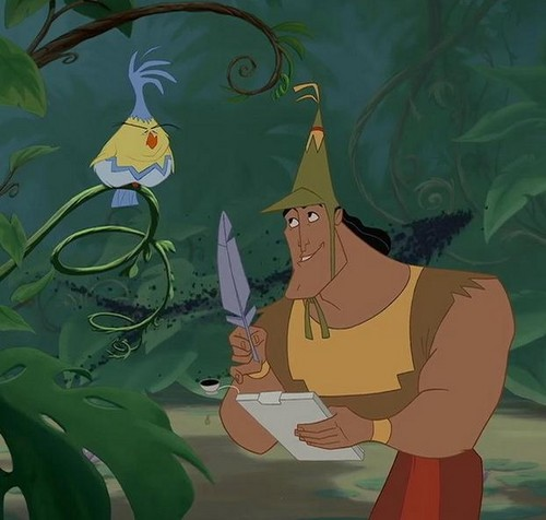 Disney Males hình nền containing anime called Kronk and Fat Bird
