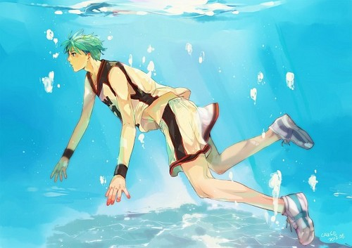 Kuroko Tetsuya वॉलपेपर possibly with a water titled Kuroko!~