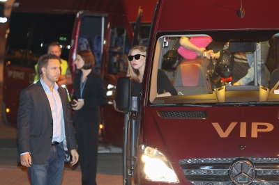 Lady Gaga arrives in Lithuania