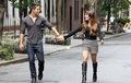 Lea Michele & Dean Geyer Filming in New York - lea-michele photo