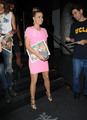 Leaving Katsuya Restaurant In Los Angeles [16 August 2012]