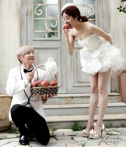Leeteuk & Kang sora Wedding Foto