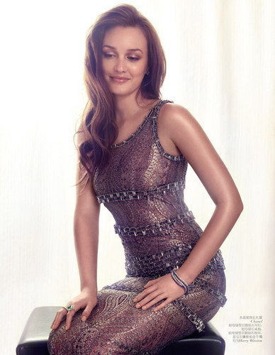 Leighton Meester – Vogue China August 2012