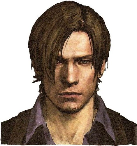 Leon Kennedy wallpaper with a portrait titled Leon's Face Design in RE6