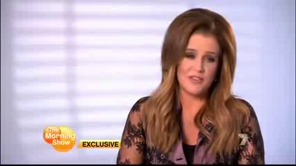 Lisa Marie Presley on The Morning Show (15/08/12)