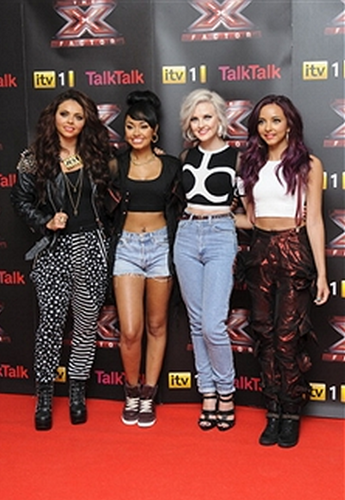 Little Mix attend an X Factor conference in London - Arrivals {16/08/12}.