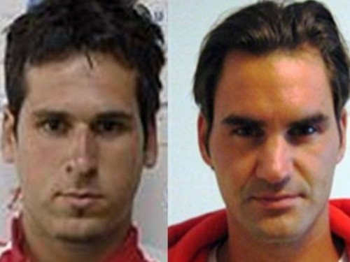 Mateasko and Federer look alike faces..