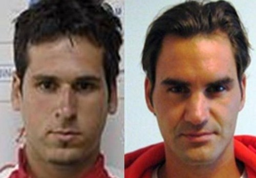 Mateasko and Federer look alike faces...