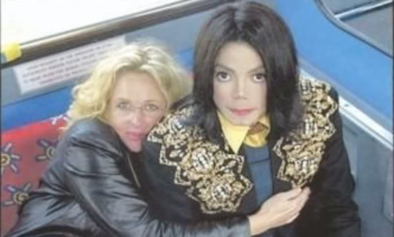 Michae And Longtime Friend And Makeup Artist, Karen Faye
