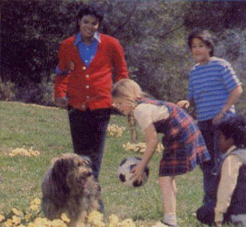 "Michael And The Children From The 1989 Motion Picture, ""Moonwalker"""