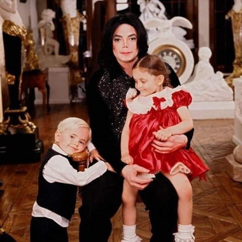 Michael And Two Children, Prince And Paris